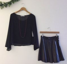 pleather skirt / holiday outfit ideas
