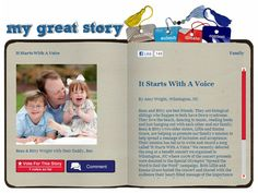 June 2012 My Great Story of the Month Contest Winner: It Starts with a Voice by Amy Wright of Wilmington, NC. Visit www.ndss.org/stories to check out the collection and share your story!