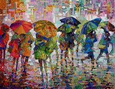 patchwork – Stitches of Time Landscape Art Quilts, Umbrella Art, Quilt Modernen, Art Textile, Arte Pop, Applique Quilts, Fabric Art, Fabric Painting, Quilting Designs