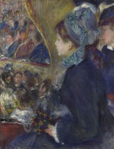 Pierre-Auguste Renoir - At the Theatre, 1876-7