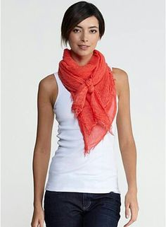 I like this scarf tie from Eileen Fisher.