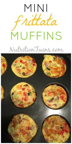 Mini Frittata Muffins | Only 67 Calories | Easy, Satiating, Perfect Breakfast on-the-Go | For MORE RECIPES, Fitness & Nutrition Tips please SIGN UP for our FREE NEWSLETTER www.NutritionTwins.com | @egglandsbest  .client