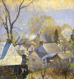 Daniel Garber, Springtime in the Village, 1917