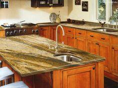 Blaty do kuchni realizacja Hoder - naturalny kamień  Blaty do kuchni realizacja jasny naturalny kamień #kitchen #design #kuchnia #granite #marble