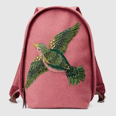 embroidered bird backpack