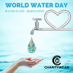 World Water Day is March 22nd, be the first to donate to a worthy charity while getting some amazing clothing! mycharitywear.com/