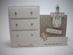 baby dresser card... very cute