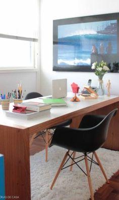Quarto de empregada virou escritório Foto: Histórias de Casa