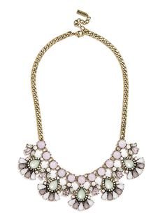green statement necklace $46