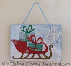 Sizzix Tim Holtz sleigh greeting card with snowflake
