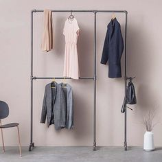 Keeping it simple but stylish!  #rackbuddywildbillelliot #inspiration #homedeco #interiordesign #pastelcolors #simplicity #wardrobe #clothesrack #kleiderständer #tøjstativ #makeityours #solebich #instagood #beautiful #furniture #homeideas #germany #copenhagen #berlin #industrial #industrialdesign #danishdesign (picture - courtesy of @monoqi)