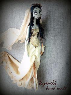 Emily The Corpse Bride  OOAK Art Doll  by kymeli