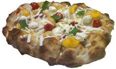 Pinsa Gourmet: 3 pomodorini, bufala, menta, ricotta salata di Andria