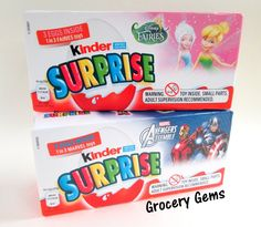Kinder Surprise Disney Fairies & Marvel Avengers Assemble Eggs