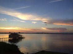 Sunset at Lake Charles during Travel Media Showcase 2014 - TMLakeCharles