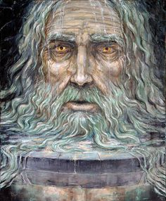 """Mimir is the oracular giant-god in Norse mythology. I see him very much as the god of oracles and prophecy. His name means """"the rememberer"""" or """"the wise one""""."""