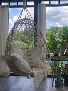 Living Room Seating, Living Room Chairs, Living Room Decor, Living Room Hammock, Hanging Swing Chair, Swinging Chair, Swing Chair Indoor, Egg Swing Chair, Macrame Hanging Chair
