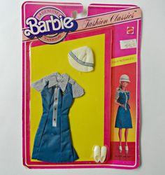 Vintage A Genuine Barbie Fashion. Fashion Classic Fun at McDonalds. Barbie Fan Club Membership on Back of Package. Blue McDonald Uniform with White
