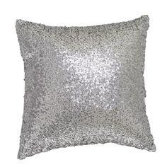 Putetrekk Paljetter sølv