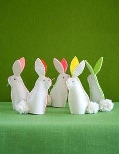 Felt Easter Bunny Decorations DIY