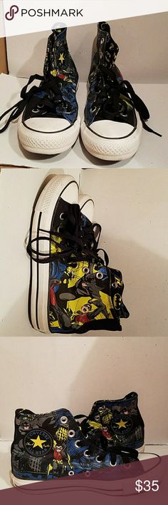 Batman Converse Batman Converse in very good condition Converse Shoes Athletic Shoes