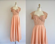 1940s lace dress  vintage 40s dress  brown by simplicityisbliss, $68.00