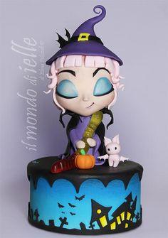 Trick Treat - Cake by il mondo di ielle Halloween Torte, Pasteles Halloween, Dessert Halloween, Halloween Treats, Pretty Cakes, Beautiful Cakes, Amazing Cakes, Cupcakes, Cupcake Cakes