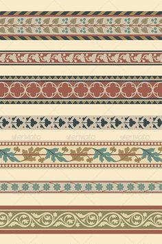 Buy Set of Seven Decorative Borders by paulrommer on GraphicRiver. Set of seven decorative borders ornamental in editable vector file