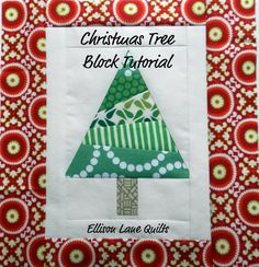 Christmas Tree Quilt Block Tutorial - Ellison Lane