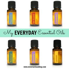 Never Serious Blog My Everyday Essential Oils doTERRA