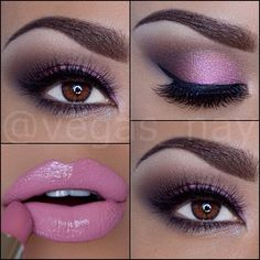 @vegas_nay soft pink smokey eyes w/ light pink lips