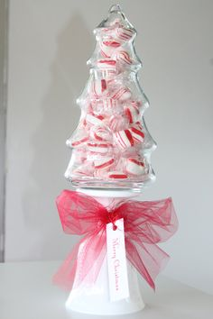 Christmas Candy Jar Topiary Tree