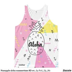 Pineapple aloha summertime All-over print tank top