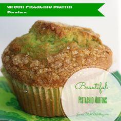 Saint Patrick's Day Recipe: Green Pistachio Muffin Recipe #Muffin