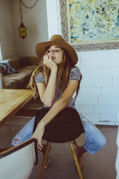 Fedora hats and stripes - so right!  Visit thesaucesuppliers.com for the supply of custom made fedora hats | custom wholesale felt hats | hat production | headwear development #FeltHatsForWomen