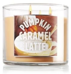 Bath and body works pumpkin caramel latte candle!