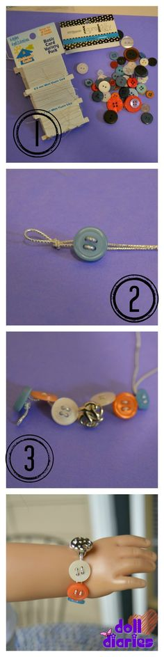 Quick Craft – Button Bracelets for Dolls