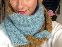 Knit Kit  Silkycloud  Mohairtuch Mint-Mustard