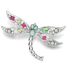 Pugster Czech Stone Dragonfly Brooches And Pins Pugster. $13.19. Exquisitely detailed designer style with Swarovski cystal element.. Money-back Satisfaction Guarantee.. One free elegant cushioned Gift box available with every order from Pugster.. Occasion: casual wear,anniversary, bridal, cocktail party, wedding. Can be pinned on your gown or fastened in your hair with bobby pins.
