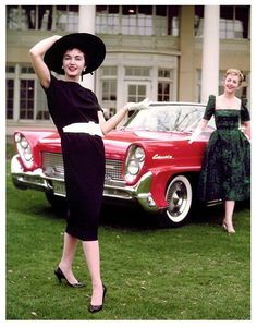 1958 Lincoln Continental Mark lll with my girlfriend's Sally & Dolly.