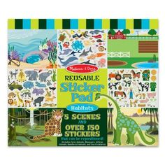 Melissa & Doug Habitats Reusable Sticker Pad