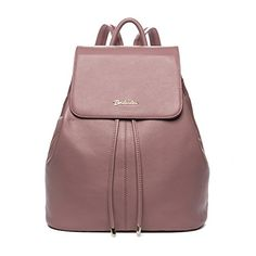 BOSTANTEN Vintage Womens Leather Backpack Casual Daypack Handbags for Ladies  Girls Pink * To view further for this item, visit the image link.