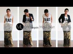 DIY Sequin Maxi Skirt Tutorial! w/ Mimi G