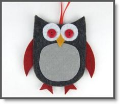 Felt Owl Gift Card Holders