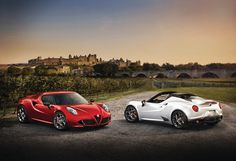 Podwójne piękno. #AlfaRomeo4C #AlfaRomeo4CSpider Alfa 4c, Bmw, Vehicles, Sports, Mafia, Hs Sports, Sport, Cars, Vehicle