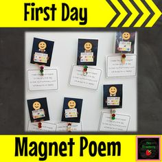 This simple poem is a great keepsake for the first day of school.See how I use it here: First Day MagnetIncludes:KindyKindergartenPre-PrimaryPrepReceptionAnd a generic version that can be used for any year levelYou might also like:First Day of School SignsFirst Week of School Activities: Name Writin... Preschool First Day, September Preschool, First Day Of School Activities, Kindergarten First Day, Kindergarten Gifts, Preschool Gifts, Phonics Activities, Preschool Curriculum, First Day Poem