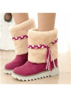 Cute Girl Style Tassel Snow Boots