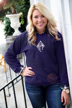 Monogrammed Crewneck Sweatshirts