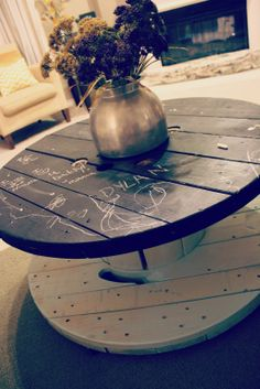 Creative DYI projects with old wooden Cable spools. more ideas visit https://www.facebook.com/creativehatt and creativehatt.com