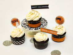 Halloween Cupcake Toppers by Sarah Hearts